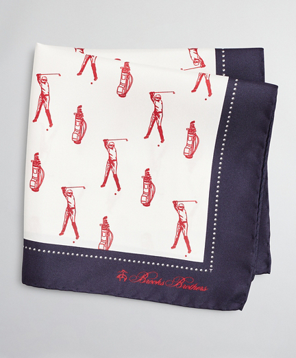 Golfer Pocket Square