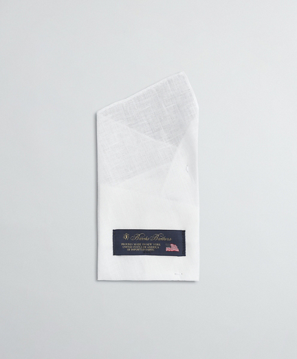 Pre-Folded 2-Point Linen Pocket Square