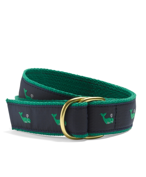 Whale Embroidered D-Ring Belt - Brooks Brothers 322b729c89b