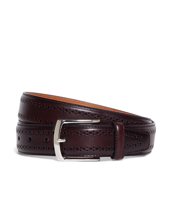 Perforated Belt Burgundy