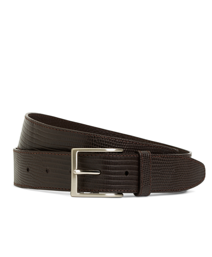 Matte Lizard Leather Belt