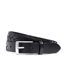 Flat Braided Leather Belt