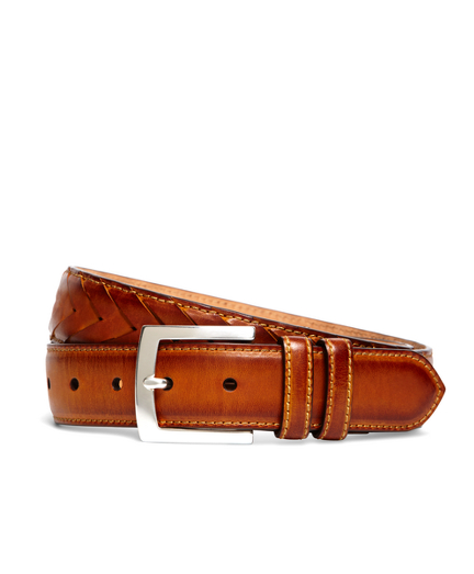 Fish Tail Braided Leather Belt