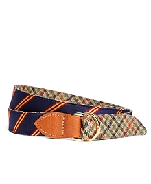 Kiel James Patrick Mini BB#1 Stripe and Green Plaid Belt