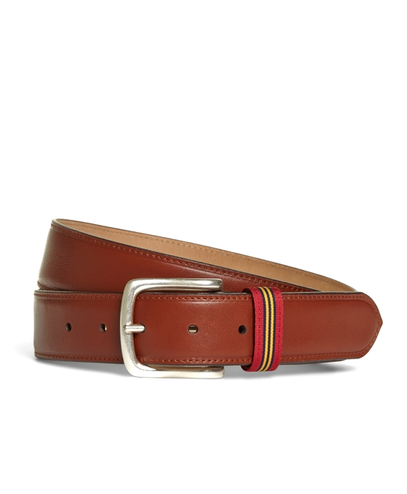 Smooth Leather Belt Brown