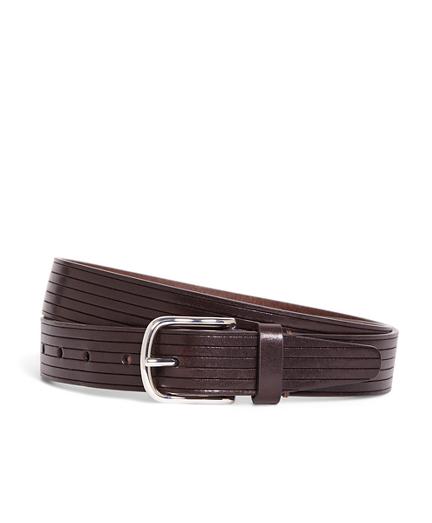 Embossed Stripe Belt