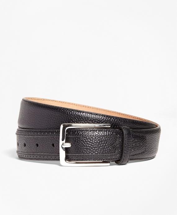 Pebble Leather Belt Black