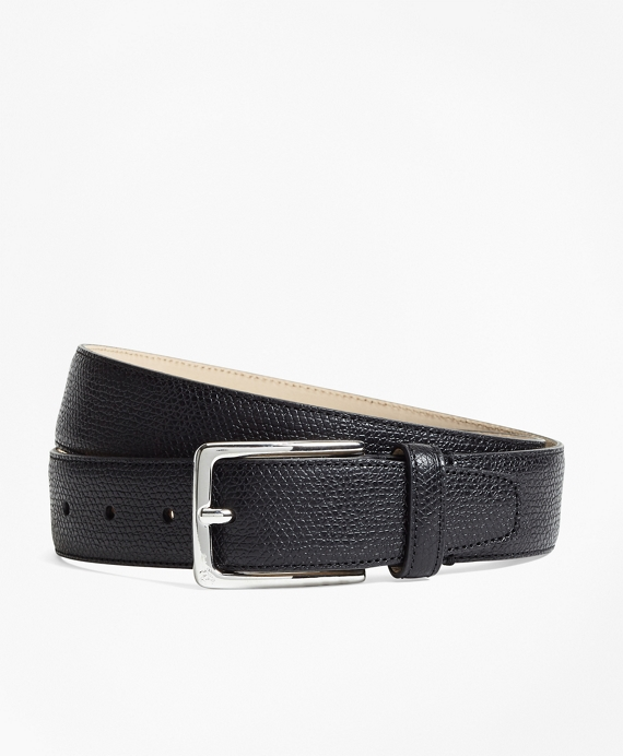 1818 Textured Leather Belt Black