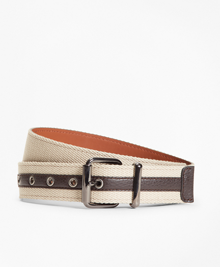Brooksbrothers Canvas with Leather Belt