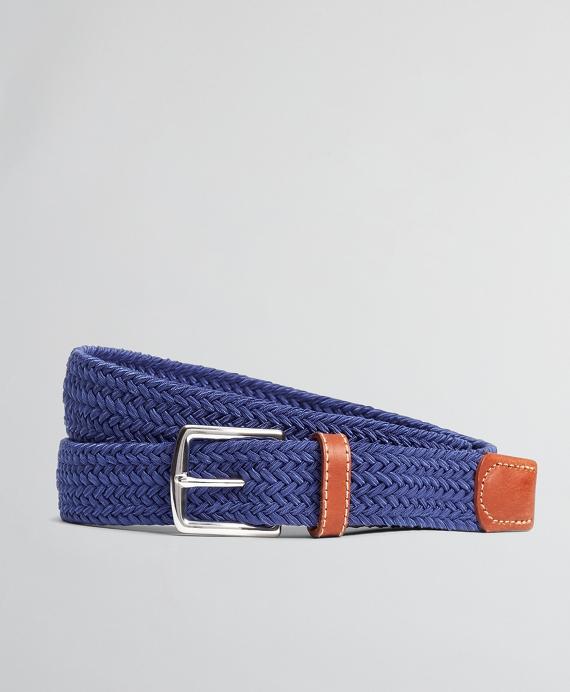 Woven Stretch Belt Blue