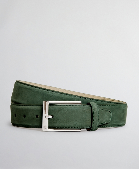 The Brooks Brothers Voyager Belt - Nubuck Green