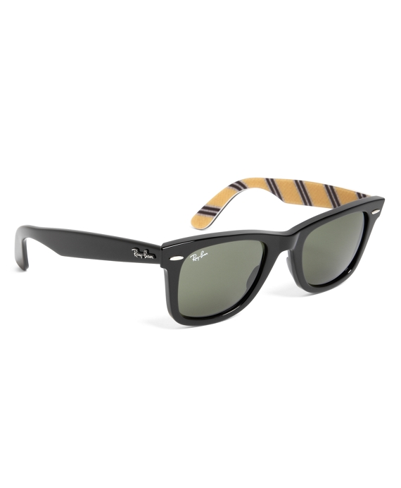 Ray-Ban® Wayfarer Sunglasses with Yellow BB#1 Rep Stripe Black