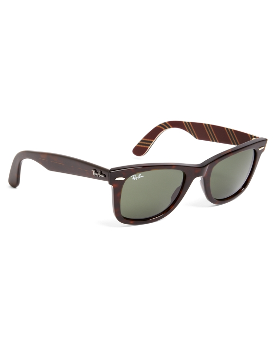 Ray-Ban® Wayfarer Sunglasses with Burgundy BB#1 Rep Stripe Tortoise