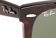 098ff695c73 Ray-Ban® Wayfarer Sunglasses with Burgundy BB 1 Rep Stripe - Brooks ...