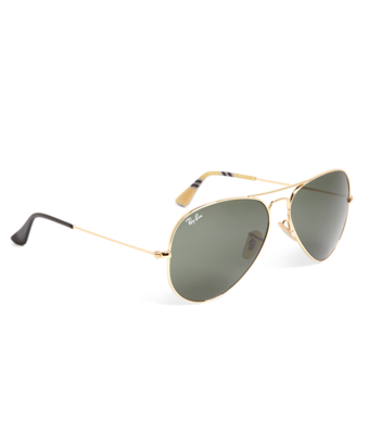 Ray-Ban® Aviator Sunglasses with Yellow BB#1 Rep Stripe