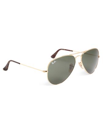 Ray-Ban® Aviator Sunglasses with Burgundy BB#1 Rep Stripe