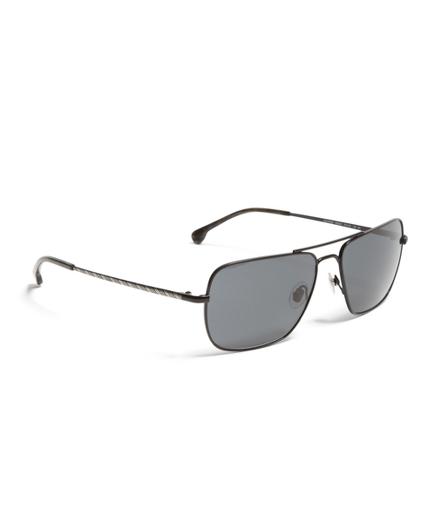 Black Metal Navigator BB#1 Stripe Arm Sunglasses