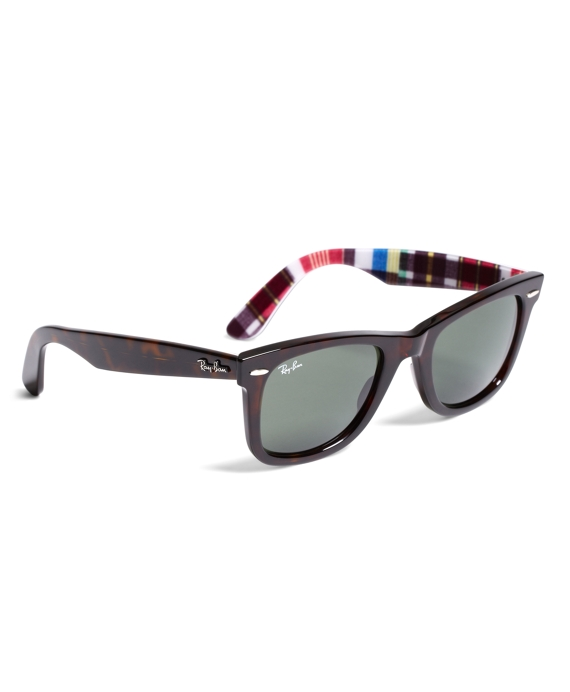 c84a76bf02d Ray-Ban® Wayfarer Sunglasses with Madras - Brooks Brothers