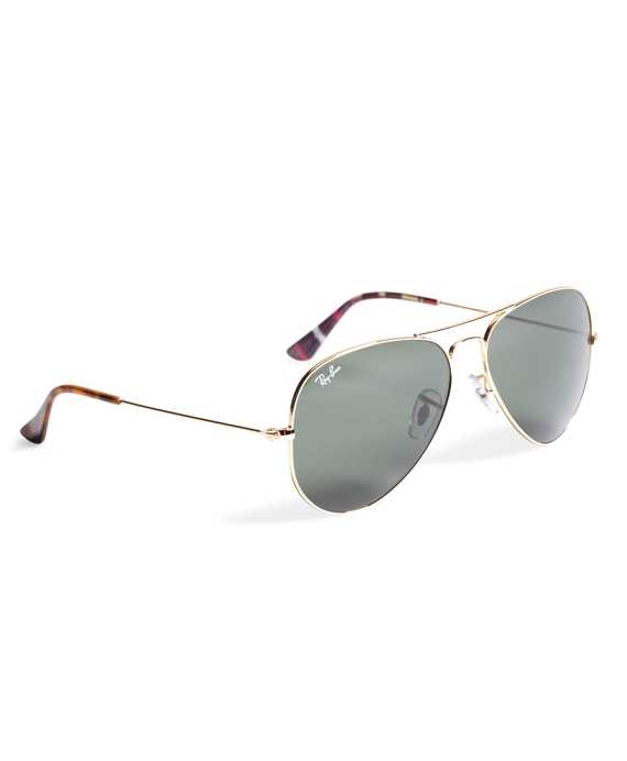 Ray-Ban® Aviator Sunglasses with Madras Gold