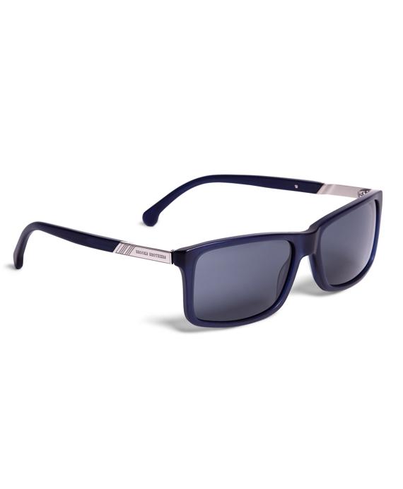 Brooks Brothers Plastic Rectangle Framed Sunglasses Blue
