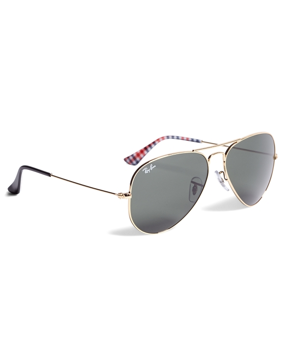 Ray-Ban® Aviator Sunglasses with Gingham Gold