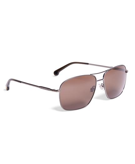 Brooks Brothers Metal Pilot Sunglasses