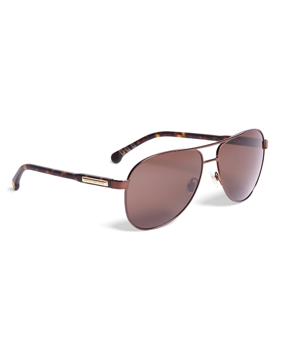 Brooks Brothers Pilot Sunglasses Brown