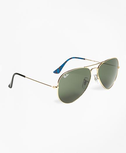 Ray-Ban® Aviator Sunglasses with Tartan