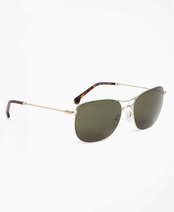 Light-Gold Aviator Sunglasses Gold