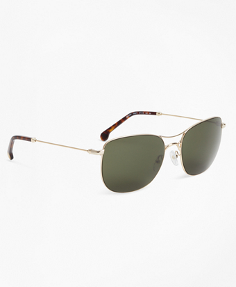 Light-Gold Aviator Sunglasses
