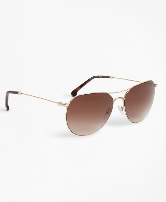 Light-Gold Navigator Sunglasses Gold