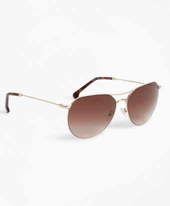 Light-Gold Navigator Sunglasses