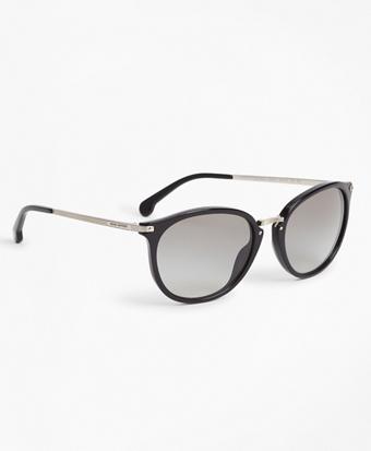 Black Classic Round Sunglasses
