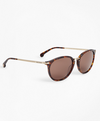 Tortoise Classic Round Sunglasses
