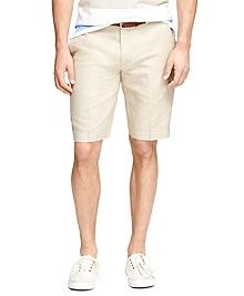 "11"" Linen and Cotton Bermuda Shorts"