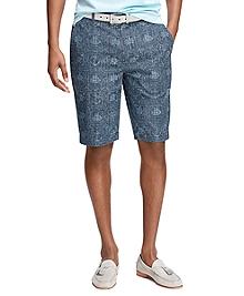 Nautical Print Shorts