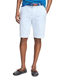 Seersucker Patch Bermuda Shorts