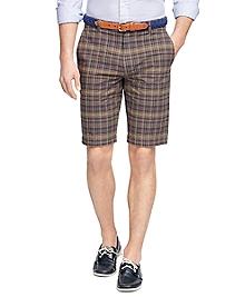 Green Madras Bermuda Shorts