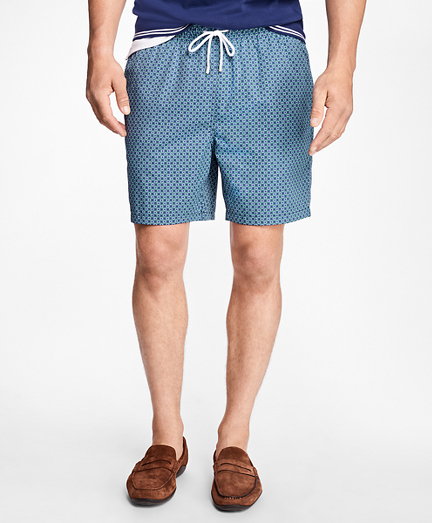 "Montauk 6"" Lifesaver Print Swim Trunks"