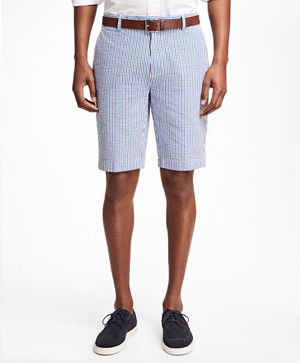 Gingham Seersucker Bermuda Shorts