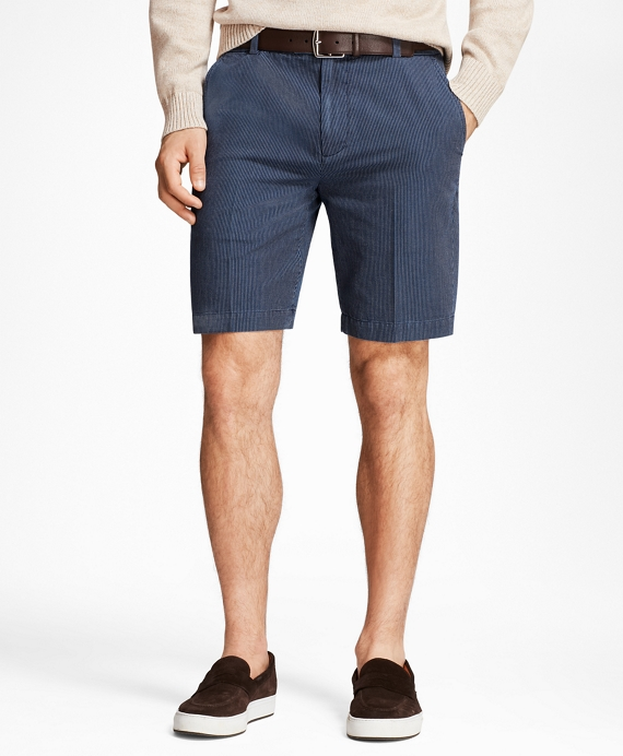 Chambray Stripe Shorts Chambray