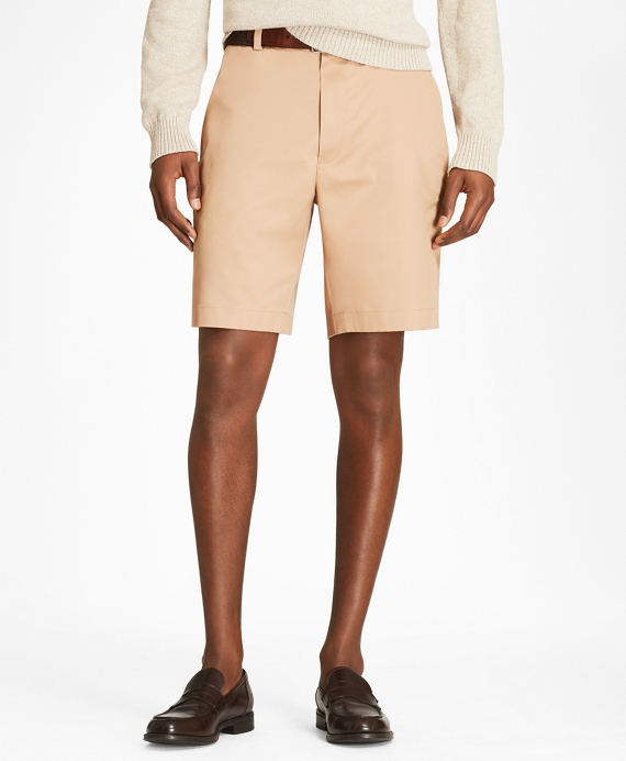 Flat Front Stretch Advantage Chino® Shorts Dark Khaki