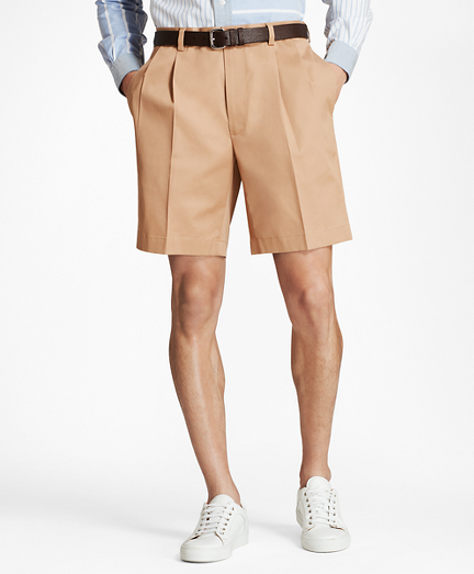 Brooksbrothers Pleat Front Stretch Advantage Chino Shorts
