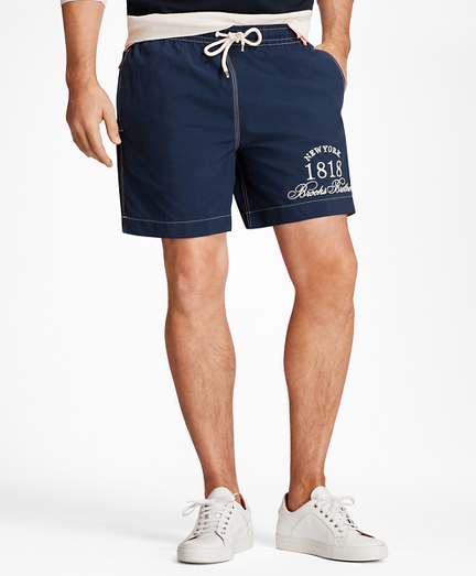 "Montauk 6"" Logo  Swim Trunks"
