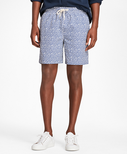 "Montauk 6"" Tropical Print Swim Trunks"