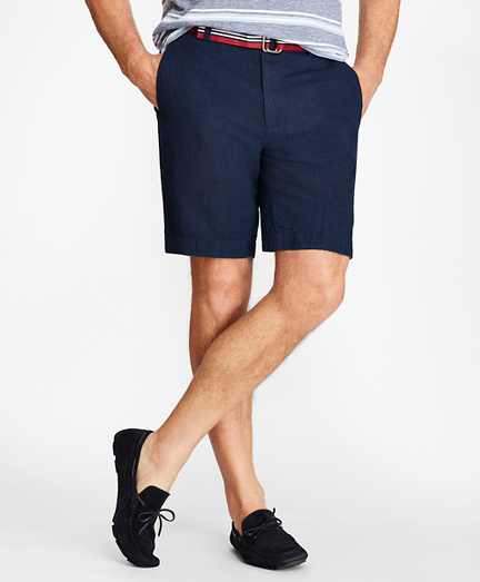 Indigo-Dyed Shorts