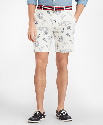 Nautical Print Shorts