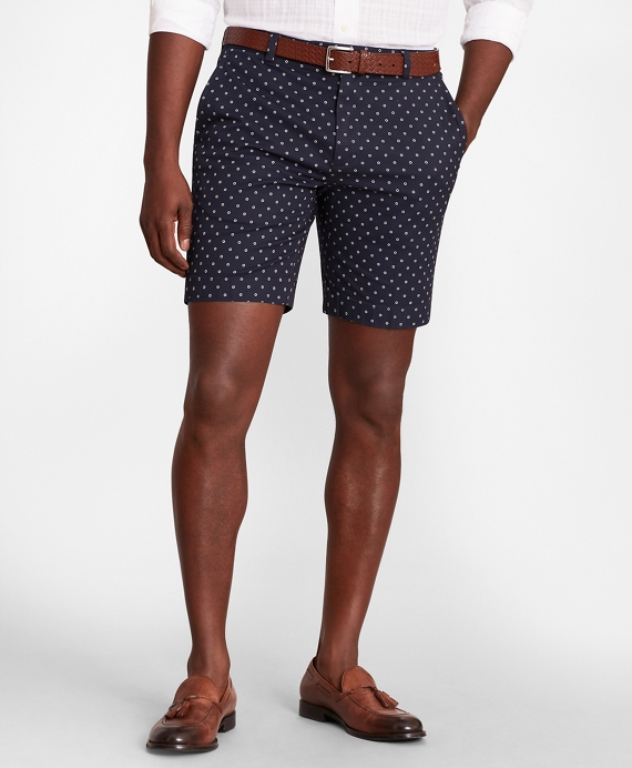 Printed Flower Shorts Navy