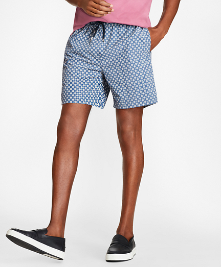 "Montauk 6"" Foulard Print Swim Trunks"