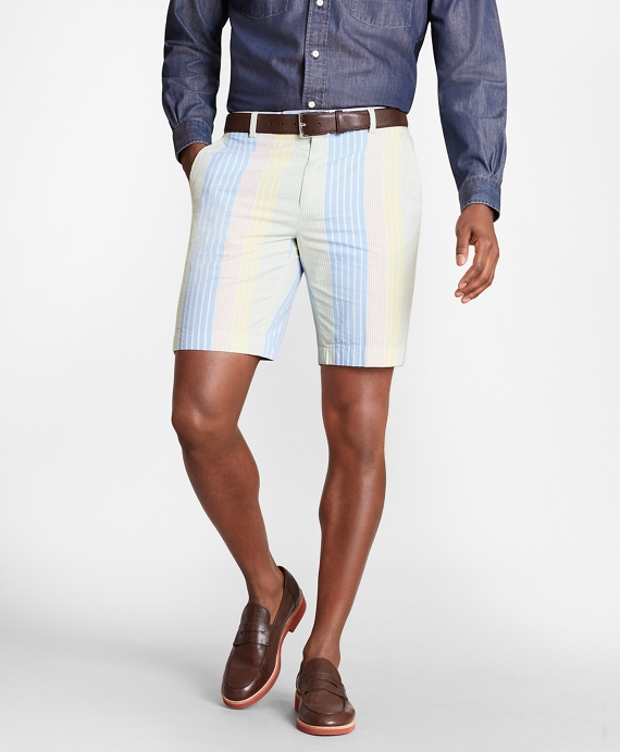 Multi-Stripe Seersucker Shorts Multi